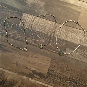 Set of 3 bead necklaces